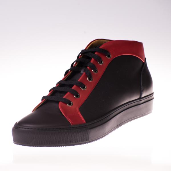Herrensneaker schwarz/rot