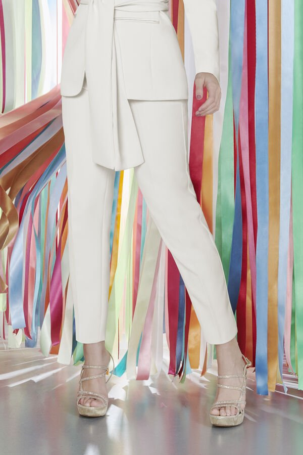 Zigarettenhose aus Crepe Couture