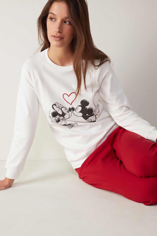 Pyjama aus warmer Baumwolle Mickey And Minnie