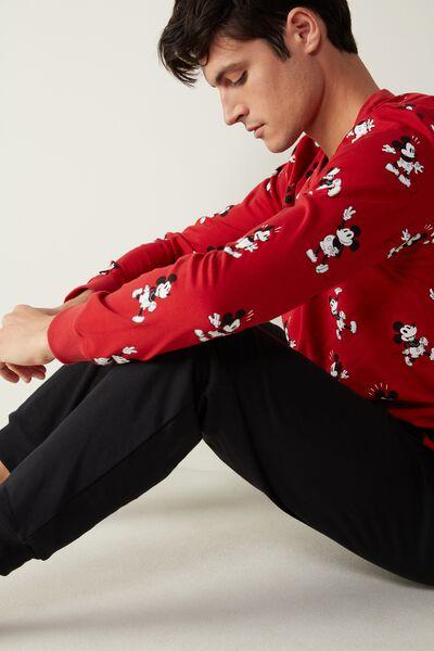 Langer Pyjama aus Baumwoll-Interlock mit Mickey Print