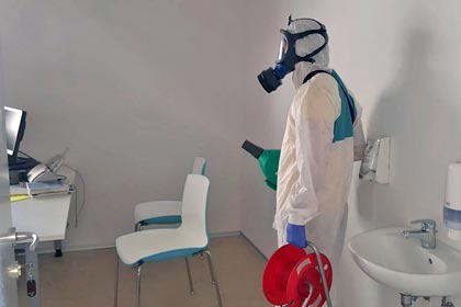 Desinfektion der Umgebung