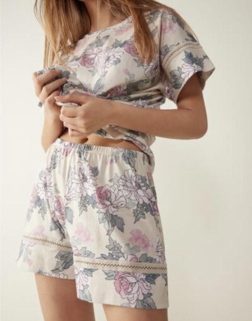 Pyjama aus Baumwolle light Flowers